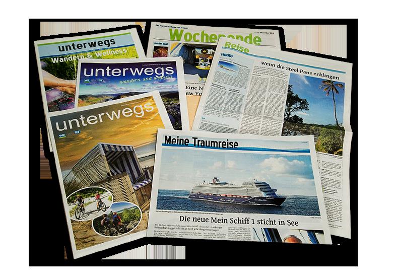 Veröffentlichungen in Zeitungen